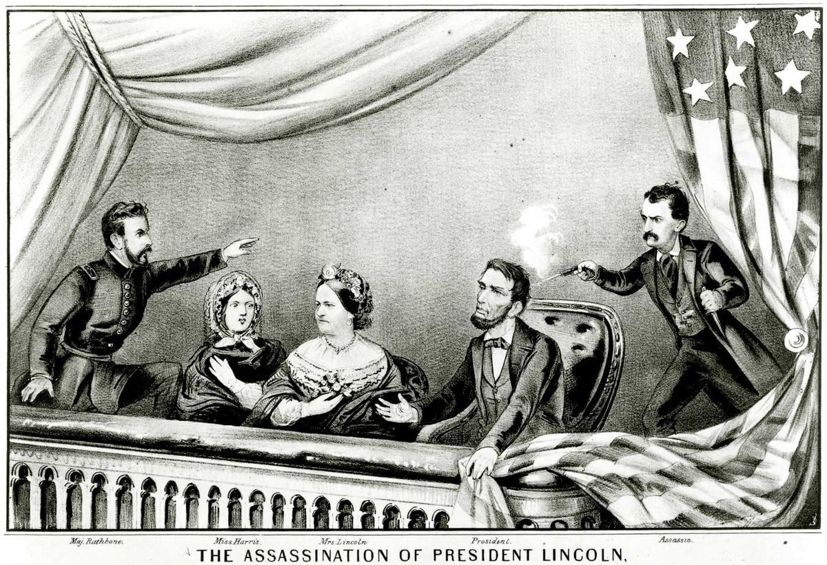 The assassination of Abraham Lincoln. Lithograph by Gibson & Co., published in 1870