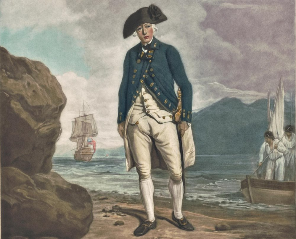 Captain Phillip steps ashore in a new land. Photo: Sydney Living Museums