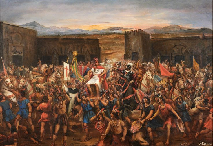 Battle of Cajamarca and the capture of Atahualpa