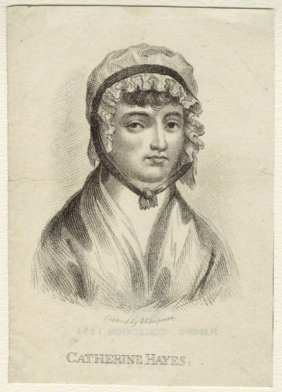 An etching of Catherine Hayes