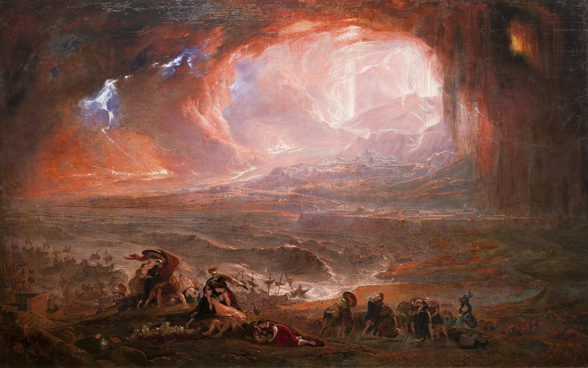 Destruction of Pompeii and Herculaneum (c. 1821) by John Martin