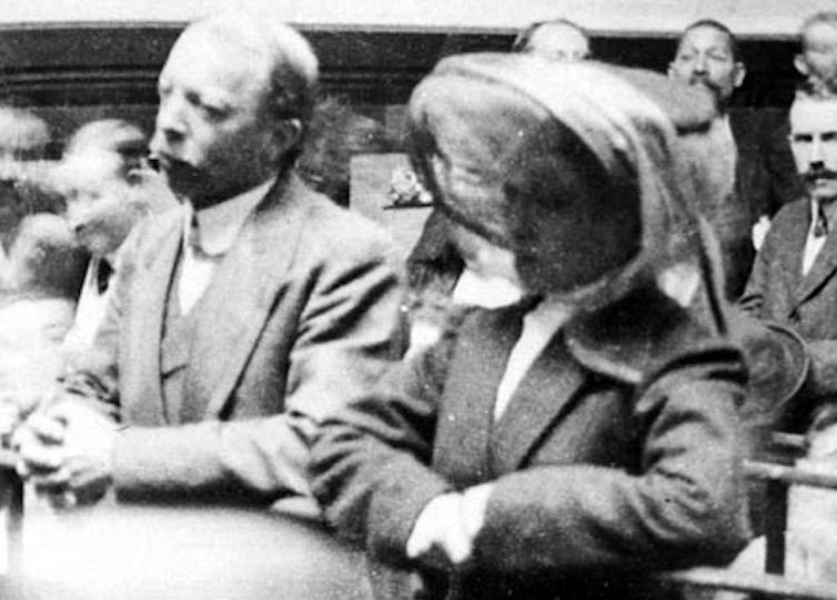 Crippen and Le Neve in the dock at a remand hearing. Photograph: Press Association