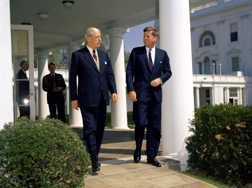 Harold Macmillan with his friend, President John F. Kennedy.jpg
