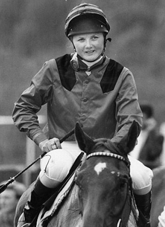 A young Gay Kelleway in the saddle. Photo: dailymail.co.uk