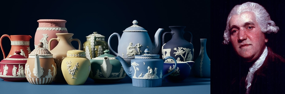 Josiah Wedgwood and a collection of the beautiful, sought-after pottery that he created