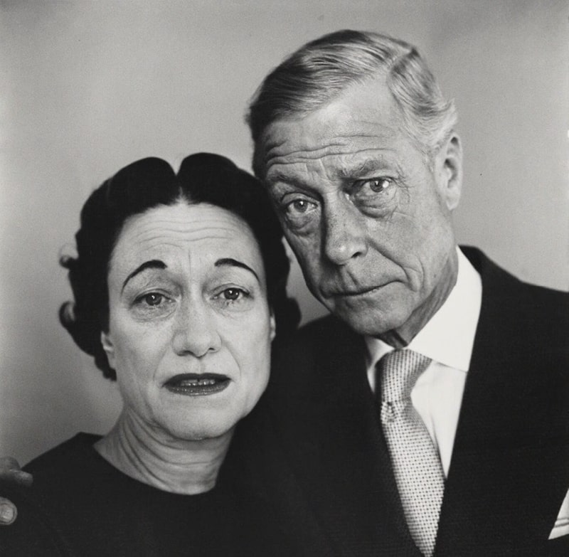 Caught off-guard: the Windsors hear a sad dog tale. Photographer: Richard Avedon. National Portrait Gallery, London