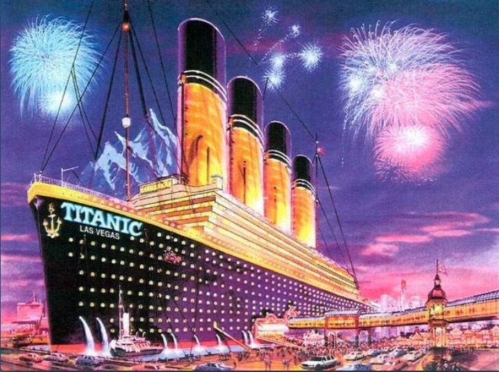 How the Las Vegas Titanic and iceberg hotel would have looked