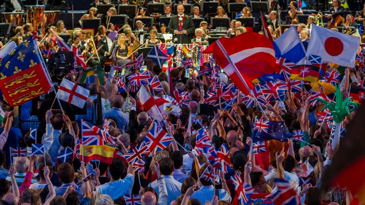 Flag-waving at the Last Night of the Proms. Photo: ITV.com