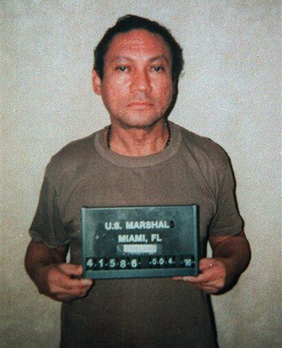 Manual Noriega's mug shot in 1990