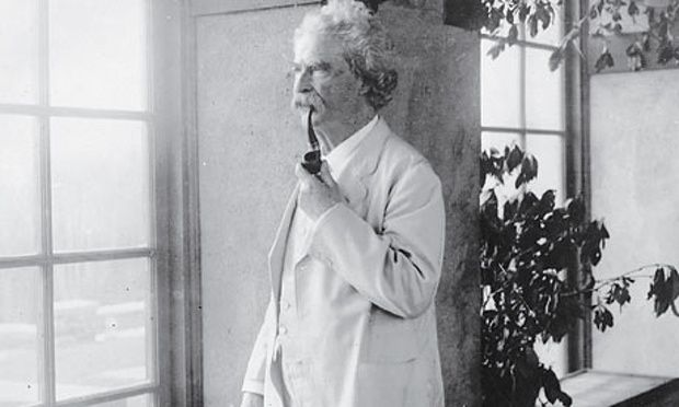 Mark Twain c1900. Photograph: Topical Press Agency/Getty Images