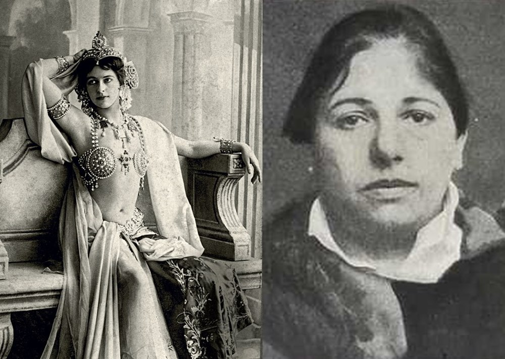 Mata Hari in her prime as the exotic Javanese dancer and on the day she was arrested for being a German spy