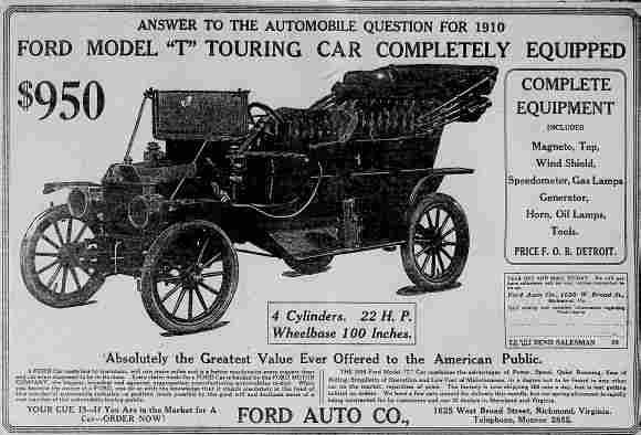 The mass-produced Model T that brought motoring to the masses