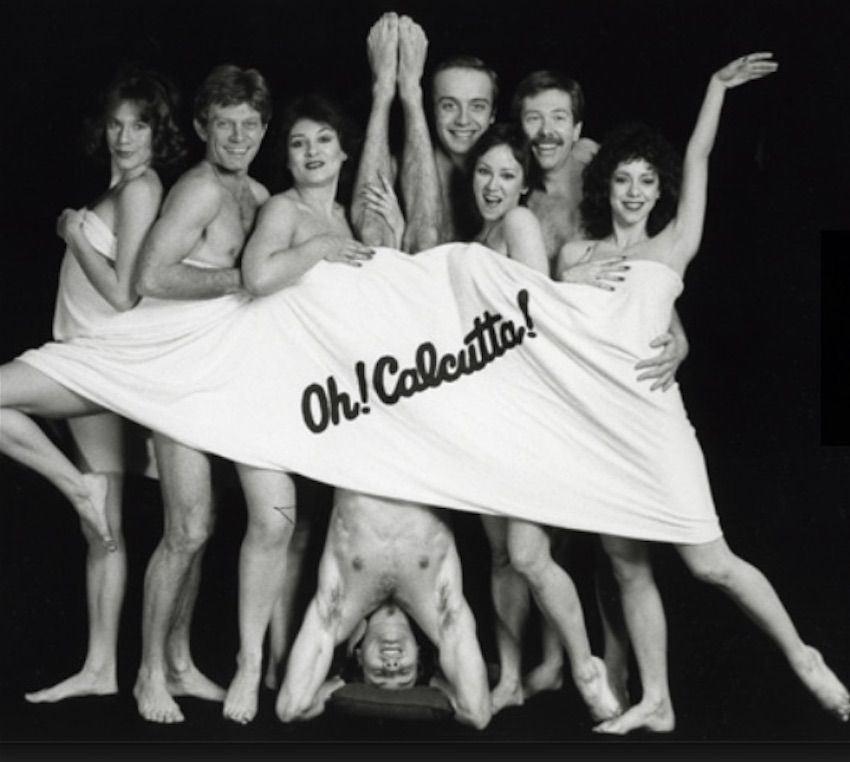 "A brief cover-up by the cast of ""Oh! Calcutta!"""