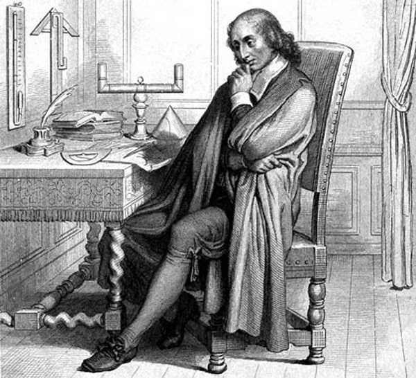The thinker: Blaise Pascal becomes lost in thought