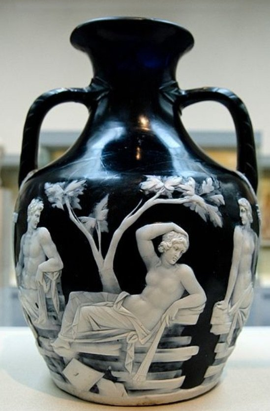 The priceless Portland Vase, restored and back on display in the British Museum