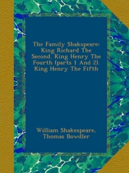 All ten volumes of Bowdler's Shakespeare can be bought in modern editions
