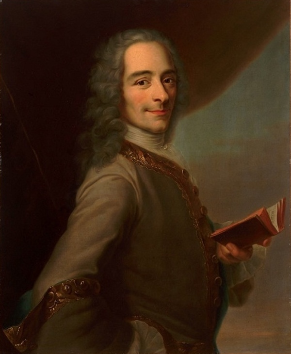 Ever smiling, ever reading, Voltaire wrote more than 2,000 books