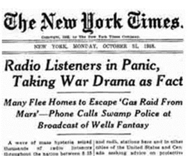 Panic Over War of the Worlds