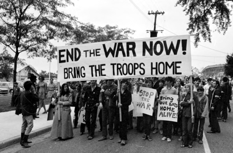War protests rocked America. These demonstrators had yet to hear about My Lai