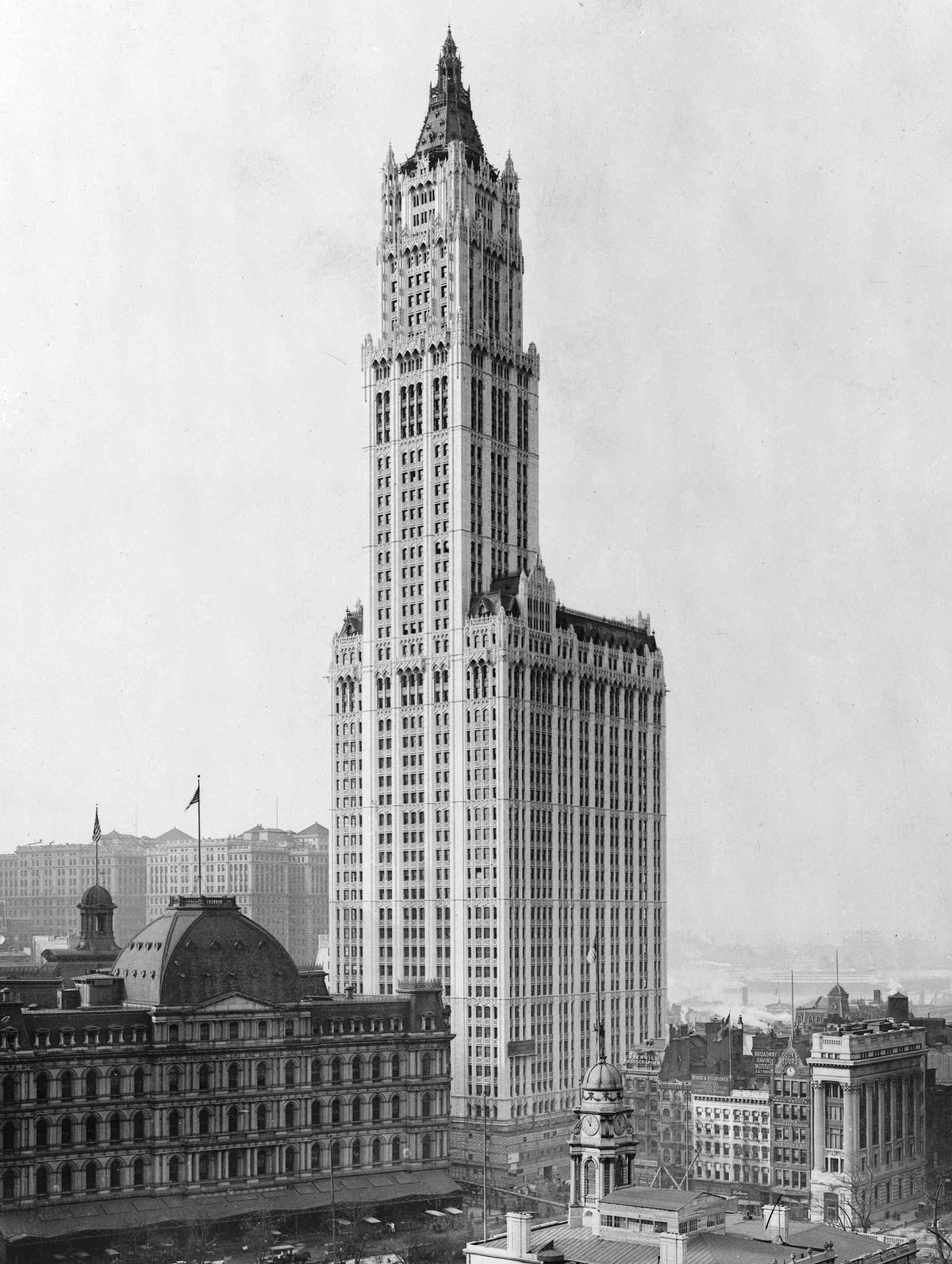 The Woolworth Building in New York, the tallest in the world when it opened in 1914.