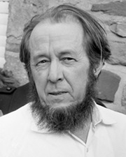 Writer and Nobel Laureate Aleksandr Solzhenitsyn