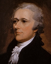 1st US Secretary of Treasury Alexander Hamilton