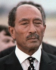 President of Egypt and Nobel Laureate Anwar Sadat