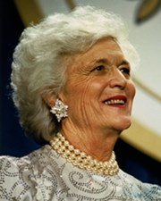 US First Lady Barbara Bush