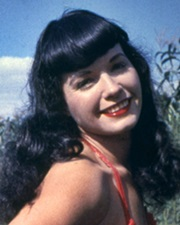 Playboy Pin-up Model Bettie Page