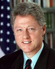 42nd US President Bill Clinton