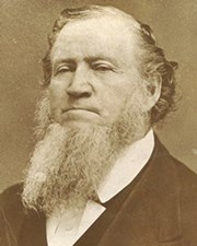 Founder of Salt Lake City and President of the LDS Church Brigham Young