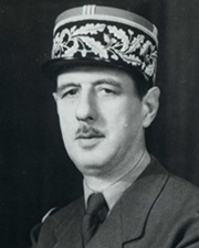 French President Charles de Gaulle