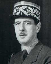 French President Charles de Gaulle
