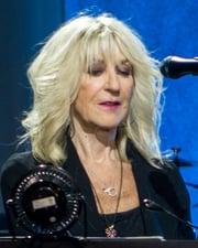 Rock vocalist Christine McVie
