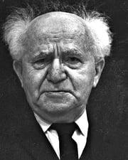 First Israeli Prime Minister David Ben-Gurion
