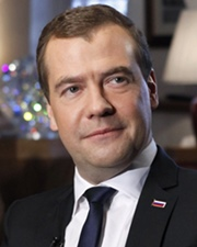 Russian politician Dmitry Medvedev