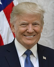 Businessman, TV Personality and 45th US President Donald Trump