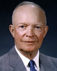 34th US President & WWII General Dwight D. Eisenhower