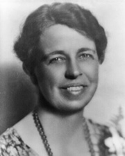 United States First Lady Eleanor Roosevelt