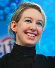 Entrepreneur and CEO of Theranos Elizabeth Holmes