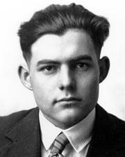 Author Ernest Hemingway
