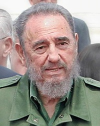 Cuban Revolutionary and President Fidel Castro