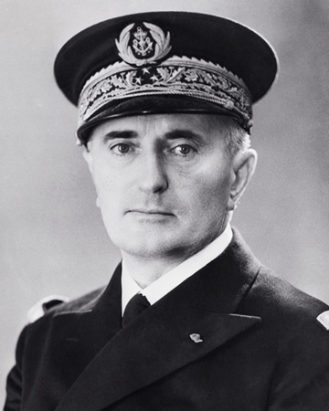Admiral and Prime Minister of Vichy France François Darlan