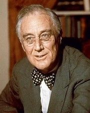 32nd US President Franklin Roosevelt