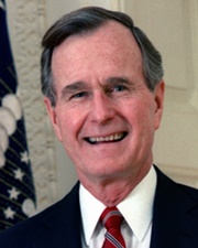 41st US President George H. W. Bush