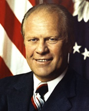 38th US President Gerald Ford