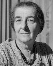 4th Prime Minister of Israel Golda Meir