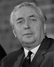British Prime Minister Harold Wilson