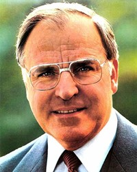 German Chancellor Helmut Kohl
