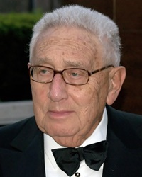 Politician, statesman Henry Kissinger